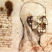 Figure 1. Leonardo's study on facial proportions